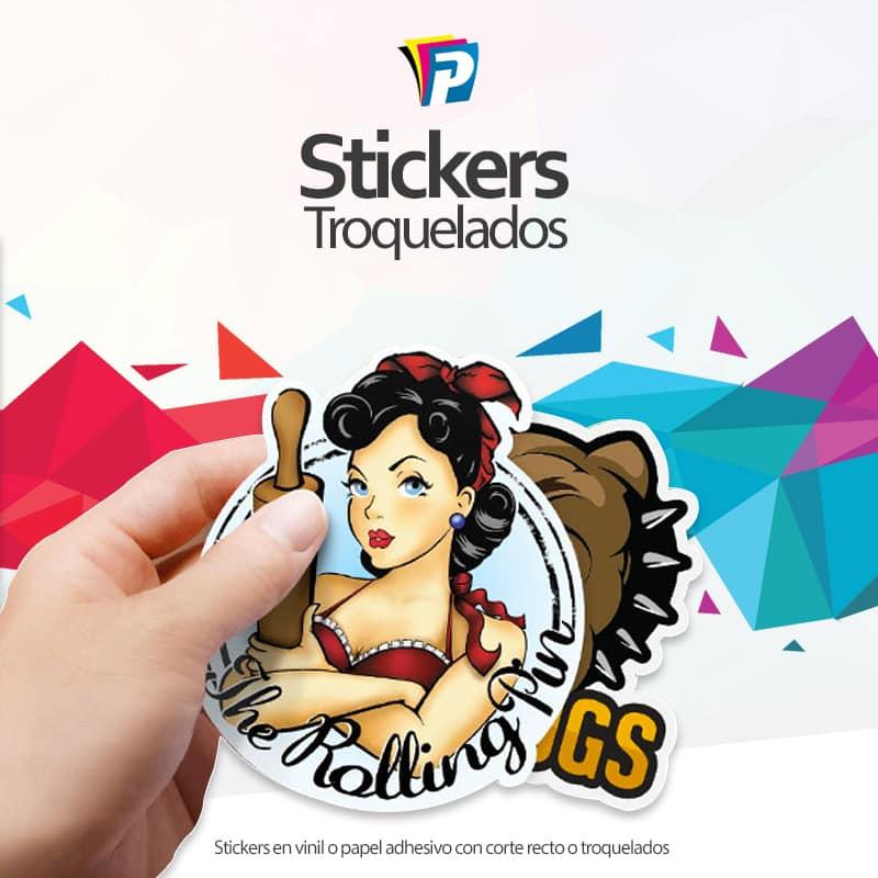 Stickers en papel adhesivo